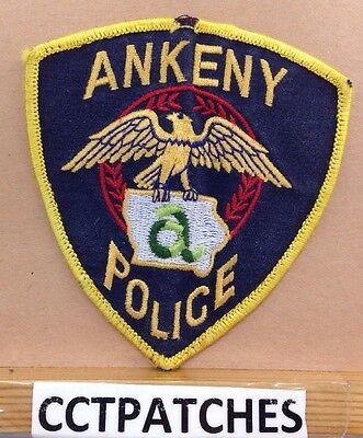 ANKENY, IOWA POLICE SHOULDER PATCH IA 2