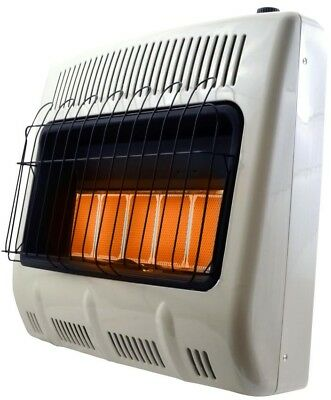Radiant Propane Heater 30K BTU Unvented Thermostat Wall Floo