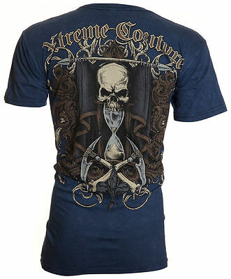 XTREME COUTURE by AFFLICTION Mens T-Shirt SANDS OF TIME Tattoo Biker UFC $40 (40 Time T-shirt)