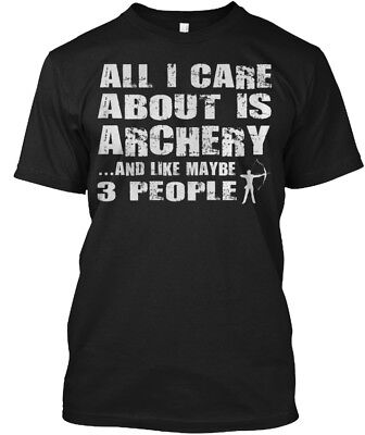 Unique Archery Hunting Bow Hunter - All I Care About Hanes Tagless Tee T-Shirt About Hunting T-shirt