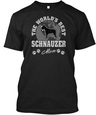Worlds Best Schnauzer Mom - The World's Hanes Tagless Tee T-Shirt - Worlds Best Mom