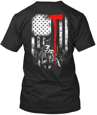 (Firefighter Flag For Fireman Premium Tee T-Shirt)