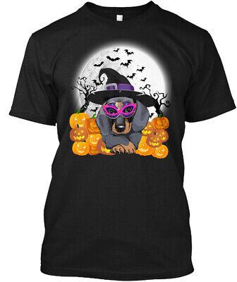 Dachshund Halloween Shirt (Dachshund- Happy Halloween.. Hanes Tagless Tee)