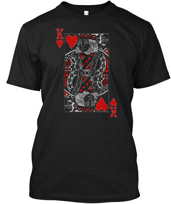 King Of Hearts Valentines Day His And H - K Hanes Tagless Tee T-Shirt - Valentines Day Hearts