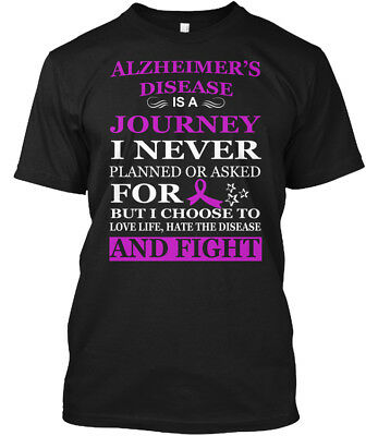 Alzheimers Awareness    Alzheimers Disease Is A Hanes Tagless Tee T Shirt