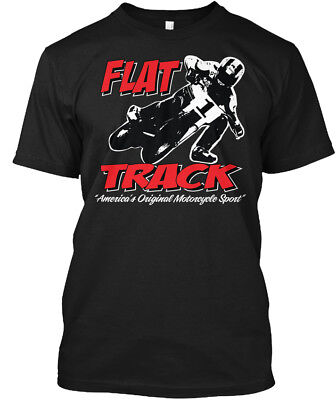 Flat Track Americas Motorcycle Sport   Track Americas Hanes Tagless Tee T Shirt