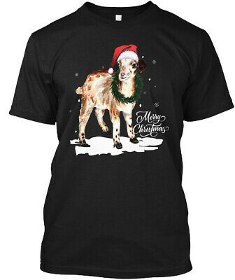 Goat Gifts For Merry Christmas Hanes Tagless Tee T-Shirt ()