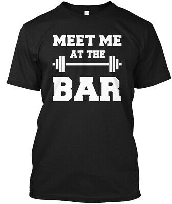 Meet Me At The Bar Fitness Gym - Hanes Tagless Tee