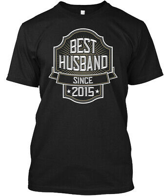 Best Husband Since 2015 Anniversary Gift Hanes Tagless Tee