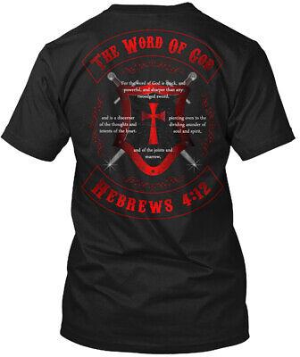 Bible Verse Word Of God - The Gerbrews 4:12 Hanes Tagless Tee T-Shirt Bible Verses Gods Word