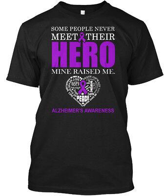 Alzheimers Awareness-my Hero Raised Me - Some People Hanes Tagless Tee T-Shirt (Alzheimers Awareness)