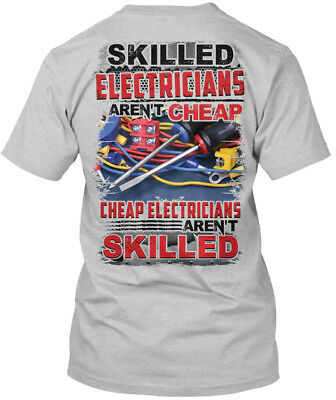 Great Gift Awesome Electrician   Skilled Electricians Hanes Tagless Tee T Shirt