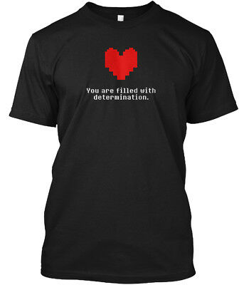 Undertale   You Are Filled With Determination Hanes Tagless Tee T Shirt