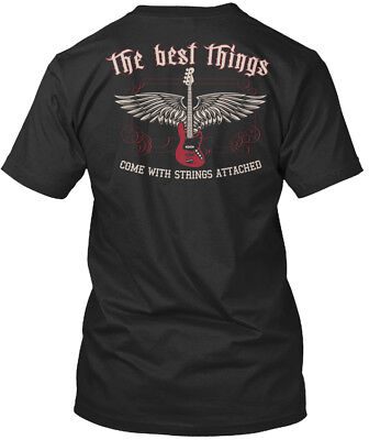 Strings Attached Bass Guitar - The Best Things Come With Premium Tee (Best Bass Guitar Strings)