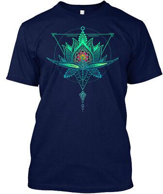 Oriental Geometric Lotus Triangle Hanes Tagless Tee T-Shirt](Oriental T)