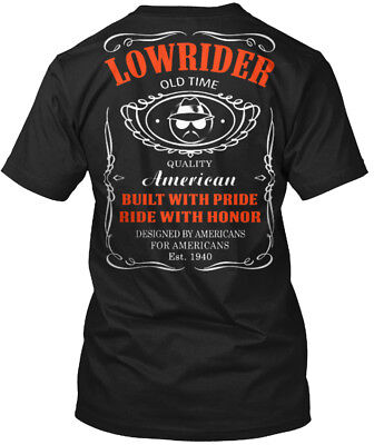 Comfy Us Lacrosse Flag S - Lowrider Old Time Quality Hanes Tagless Tee (Lacrosse T-shirt Tee)