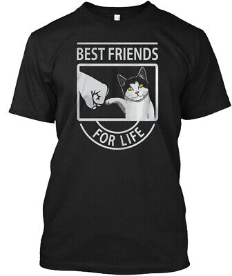 Funny Cat T Best Friends For Lif - Life Hanes Tagless Tee (Cat Best Friends For Life Shirt)