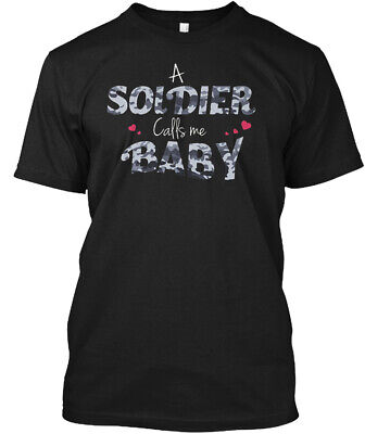 Army Girlfriend - A Soldier Calls Me Baby Hanes Tagless Tee T-Shirt