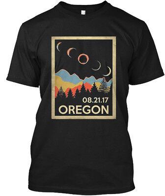 Vintage Oregon Solar Eclipse 2017   08 21 17 Hanes Tagless Tee T Shirt