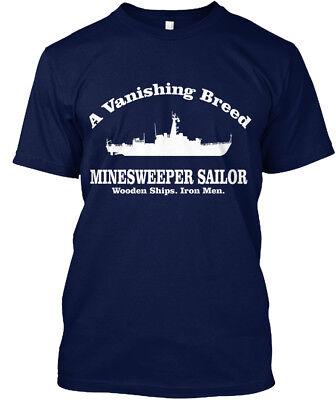 Minesweeper   A Vanishing Breed Sailor Wooden Ships  Hanes Tagless Tee T Shirt