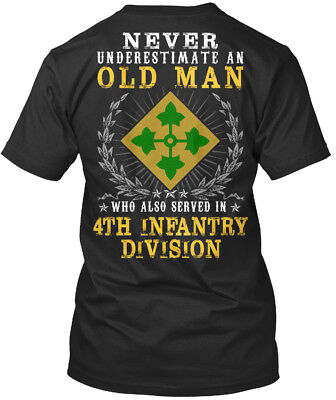 4th Infantry Division United States - Never Underestimate An Premium Tee - 4th Infantry Division T-shirt