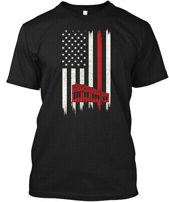 Keyboard American Flag Hanes Tagless Tee (American Flag Keyboard)