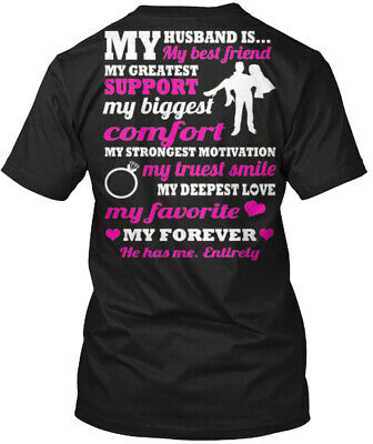 I Love My Husband Made In Usa - Is... Best Friend Hanes Tagless Tee