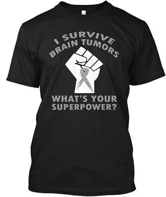 Brain Tumor Awareness   I Survive Tumors What S Your Hanes Tagless Tee T Shirt