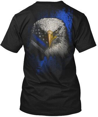 Thin Blue Line Bald Eagle Hanes Tagless Tee T-Shirt