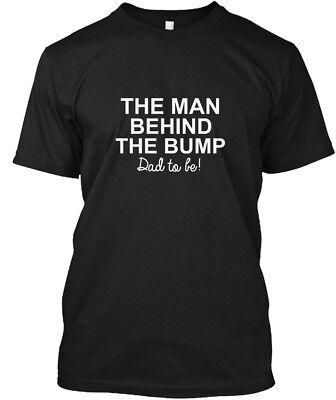 Fun Pregnancy T Shirts (Fun Maternity - The Man Behind Bump Dad To Be! Hanes Hanes Tagless Tee)