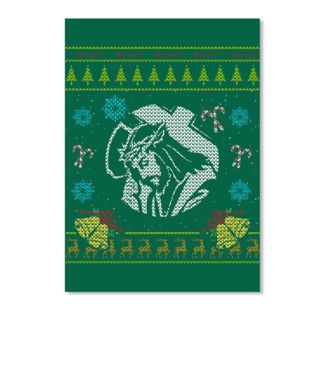 Jesus Christmas Ugly Sweater Design Sticker - Portrait