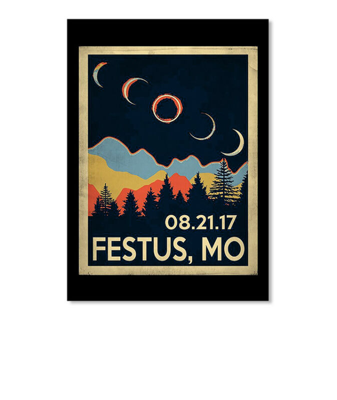 Festus Missouri Solar Eclipse 2017 Tshir 08.21.17 Mo Sticker - Portrait