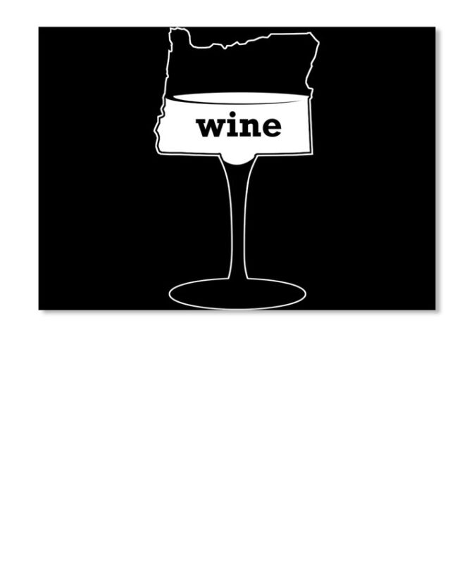 Wine Oregon Sticker - Landscape