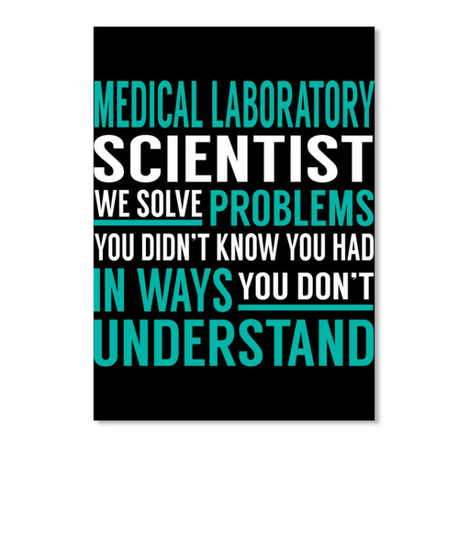 Trendsetting Medical Laboratory Scientist Sticker - Portrait Sticker - Portrait