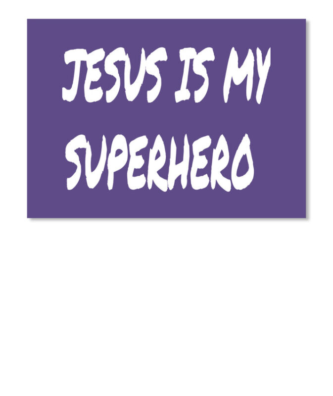 Custom-made Religious Jesus Is My Superhero Sticker - Sticker - Landscape
