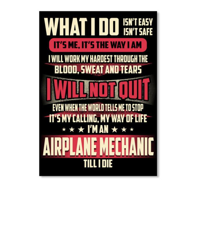 Airplane Mechanic What I Do Sticker - Portrait