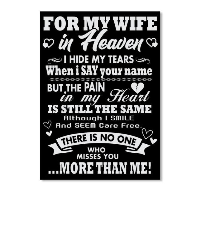 In style For My Wife In Heaven Sticker - Portrait Sticker - Portrait