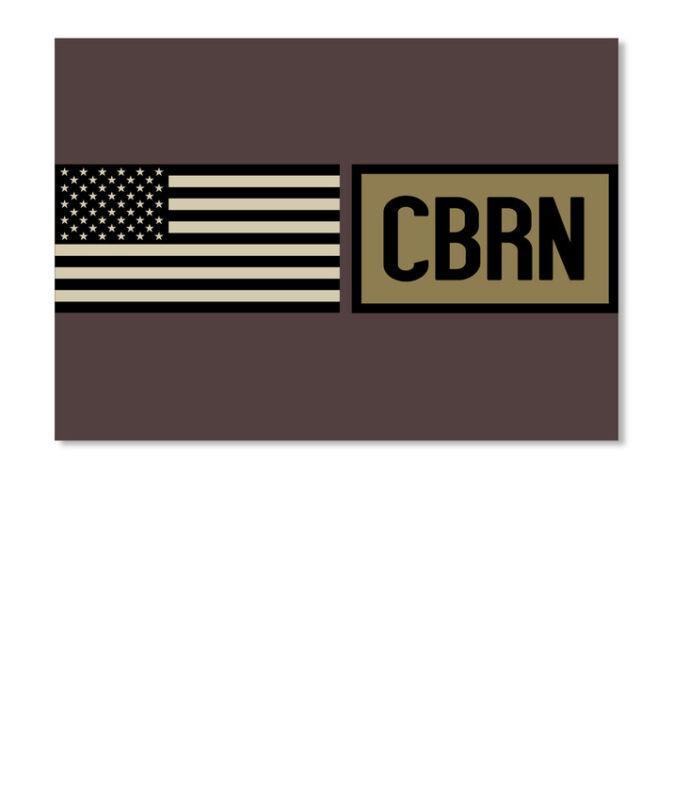 Military Cbrn Sticker - Landscape