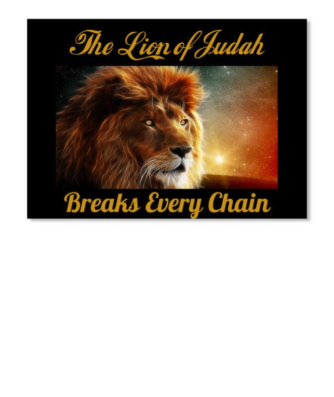 Breaks Every Chain The Lion Of Judah Sticker - Landscape