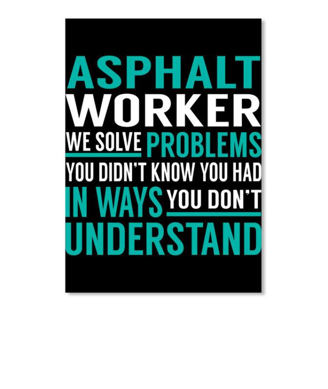 Asphalt Worker Solve Problems Sticker - Portrait
