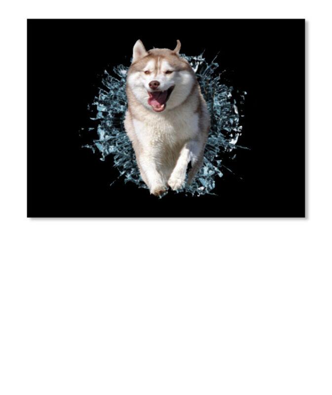 Cool Husky Sticker - Landscape Sticker - Landscape