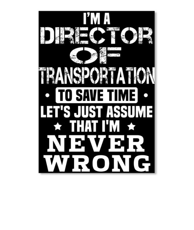 Trendy Director Of Transportation Sticker - Portrait Sticker - Portrait