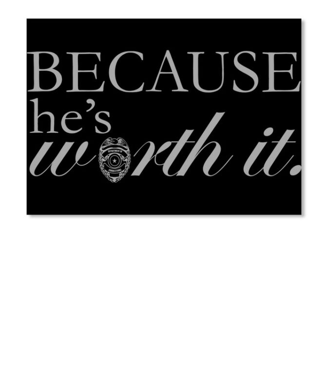 Cool Correctional Officer Wife Because Hes Sticker - Sticker - Landscape