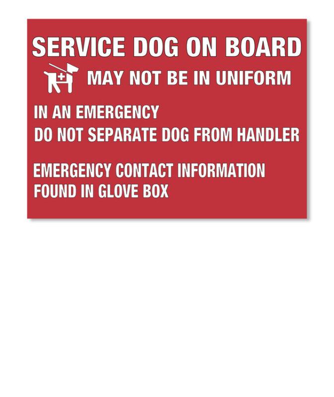 Service Dog On Board Vinyl May Not Be In Uniform An Sticker - Landscape
