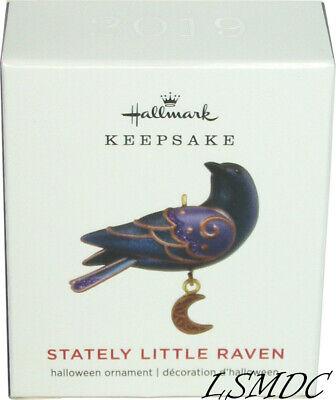 2019 Hallmark Mini STATELY LITTLE RAVEN Halloween Miniature bird ornament NEW