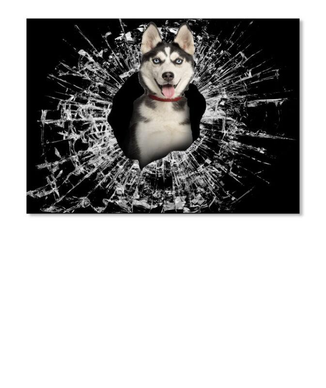 Siberian Husky Dog 3d New Car Sticker - Landscape