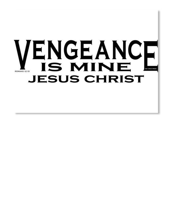 Vengeance Is Mine Jesus Christ Sticker - Landscape