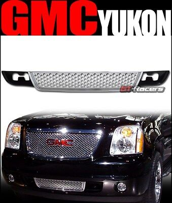 For 2007-2014GMC Yukon Chrome Round Hole Mesh Front Lower Bumper Grill Grille 1P