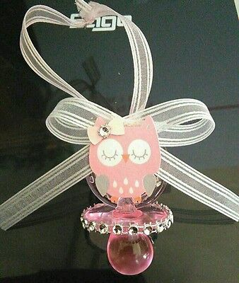 OWL THEMED BABY SHOWER PACIFIER NECKLACES ](Baby Owl Themed Baby Shower)