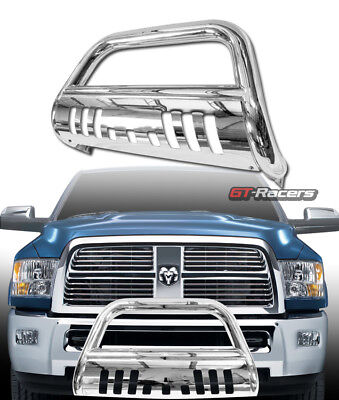 2500 Bull Bar (For 2010-2018 Dodge Ram 2500/3500 S/S Chrome Bull Bar Bumper Grill Grille Guard )